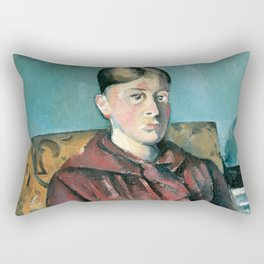 1890 - Paul Cezanne - Madame Cézanne In A Yellow Armchair Rectangular Pillow
