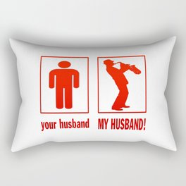 TRUMPET PLAYER - MY HUSBAND Rectangular Pillow