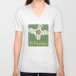 El Pichon Green Unisex V-Neck