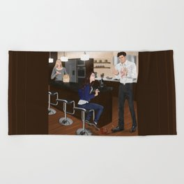 whats for dinner? Beach Towel