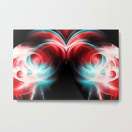 abstract fractals mirrored reac2s Metal Print