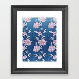 Rose Quartz Flower Garlands Framed Art Print