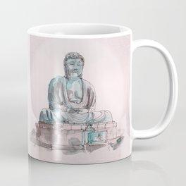 Peace and Harmony watercolor buddha pastel illustration Coffee Mug