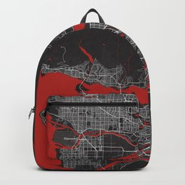 Vancouver City Map of Canada - Oriental Backpack