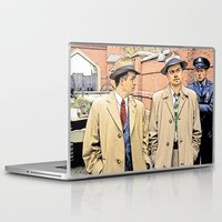 leonardo dicaprio Laptop & iPad Skins featuring Leonardo DiCaprio in Shutter Island - Colored Sketch Style by ElvisTR