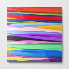multicolored Metal Print