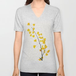 gingko biloba branch Unisex V-Neck