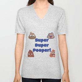 Funny Super Duper Pooper Unisex V-Neck
