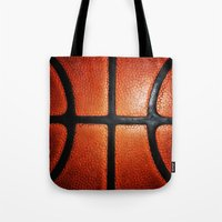 basketball Tote Bags featuring Basketball by alifart