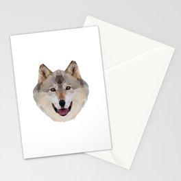 Geometrical Wolf Stationery Cards