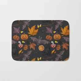October pattern Bath Mat