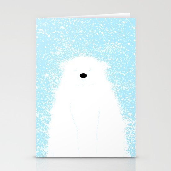 Its A Polar Bear Blinking In A Blizzard - Blue Stationery Cards