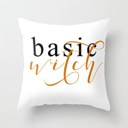 BASIC WITCH Throw Pillow