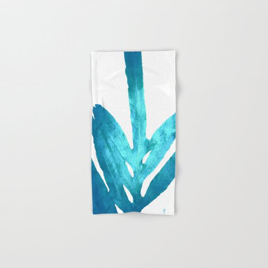 Ocean Blue Fern Hand & Bath Towel