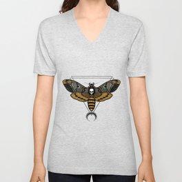 Death Moth Clear Unisex V-Neck