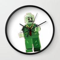 zombie Wall Clocks featuring Zombie by Emma Harckham
