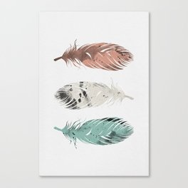 Pastel Feathers Canvas Print
