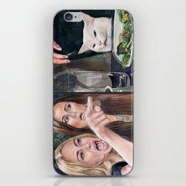 Woman Yelling at Cat Meme-3 iPhone Skin