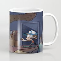 gravity falls Mugs featuring Gravity Falls  by Steven Ray Brown