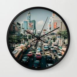 Traffic Jam | Bangkok, Thailand (Asia), City Travel Photography Wall Clock