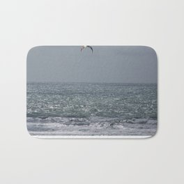 Surfing with the wind Bath Mat