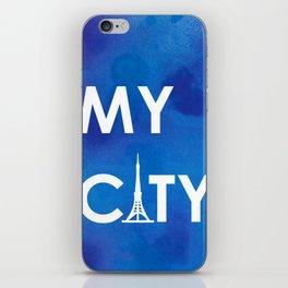 MyCity-Tokyo-BlueA iPhone Skin
