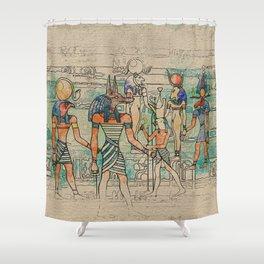 Egyptian Gods on canvas Shower Curtain