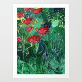 Buffalo Wildflowers - 1 Art Print