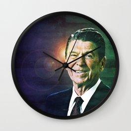 Patriot Ronald Reagan Wall Clock
