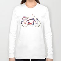 british Long Sleeve T-shirts featuring British Bicycle by Wyatt Design