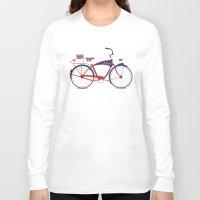 british flag Long Sleeve T-shirts featuring British Bicycle by Wyatt Design