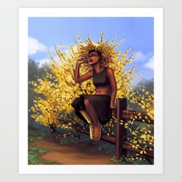 Forsythia Witch II Art Print