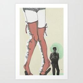 she´s got legs for miles Art Print