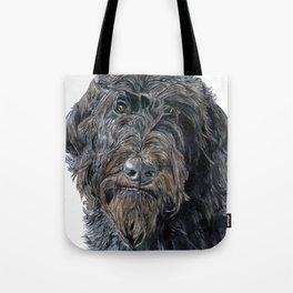 Pokey the Black Labradoodle Tote Bag