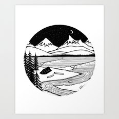 Home Is Where You Pitch It Art Print