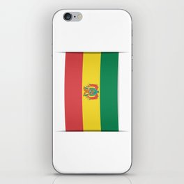 Flag of Bolivia. The slit in the paper with shadows.  iPhone Skin