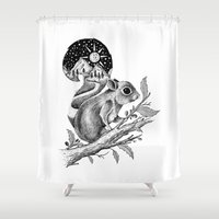 squirrel Shower Curtains featuring SQUIRREL by Thiago Bianchini