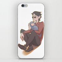 crowley iPhone & iPod Skins featuring Crowley and Adam by Kogla