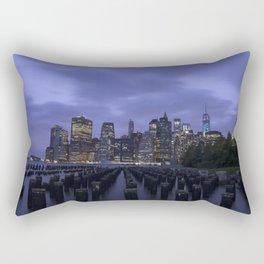 New York at Night Rectangular Pillow
