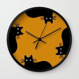 Black Cat(s) Wall Clock