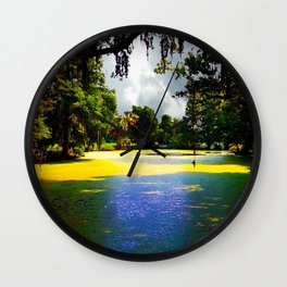 Cypress Swamp at Magnolia Plantation Wall Clock