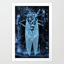 Cicada orni Art Print