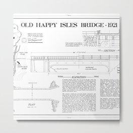 Old Happy Isles Bridge 1921 Metal Print