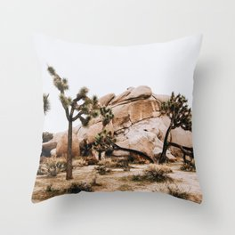 Joshua Tree II / California Desert Throw Pillow