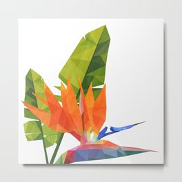 Geometric bird of paradise Metal Print
