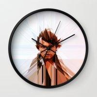 luke hemmings Wall Clocks featuring Luke by Tom Johnson