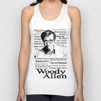 woody allen Tank Tops featuring Woody Allen by Mark Matlock