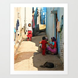Indian Streets. Agra  Art Print