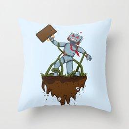 Dave Bot Throw Pillow