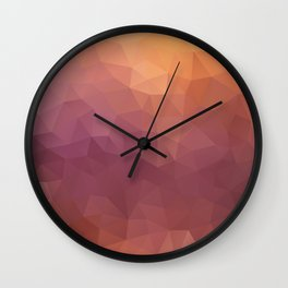 """Berries fresh juice"" triangles design Wall Clock"